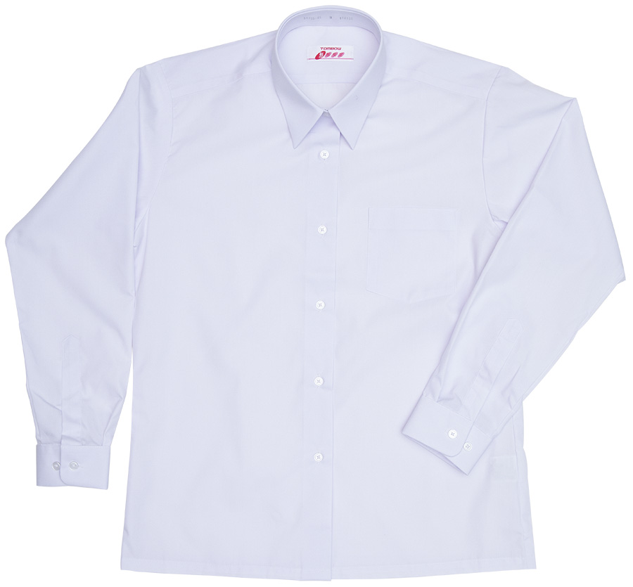 5K835-01 形態安定角襟レギュラーシャツ(長袖)