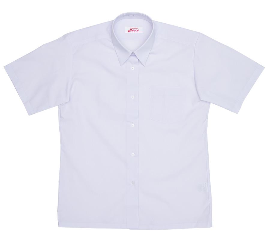 5P835-01 形態安定角襟レギュラーシャツ(半袖)
