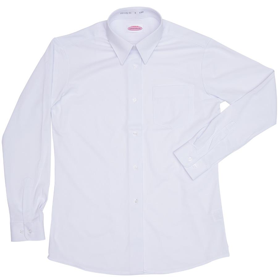 2131005-01 角襟シーブロックニットシャツ(長袖)