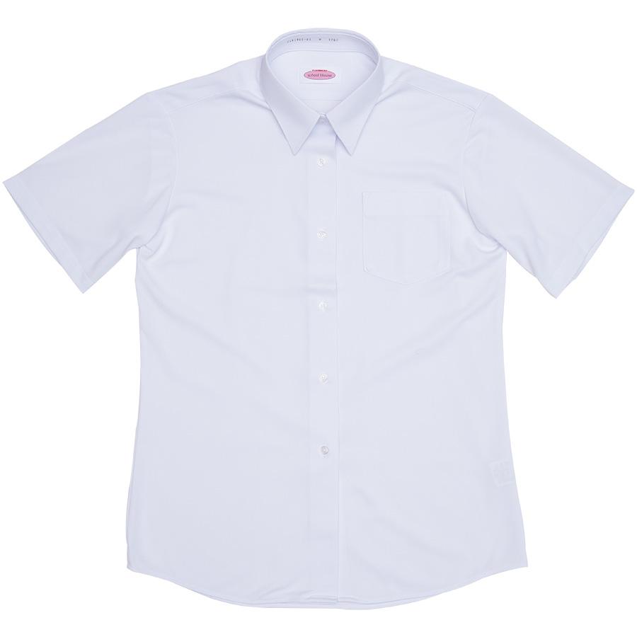 2181005-01 角襟シーブロックニットシャツ(半袖)