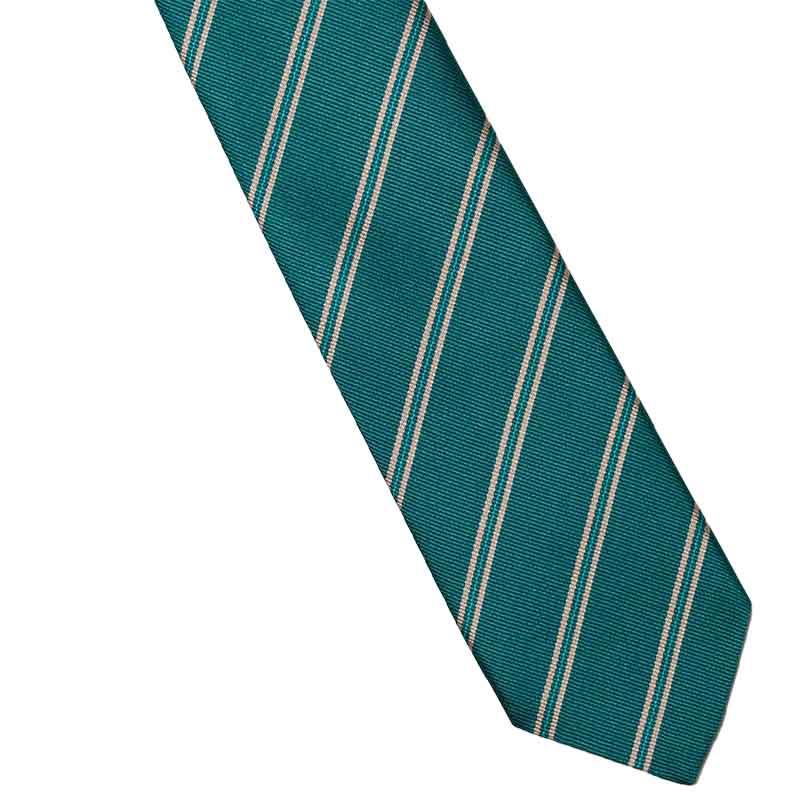 緑ベージュストライプネクタイ いつか見たみどり