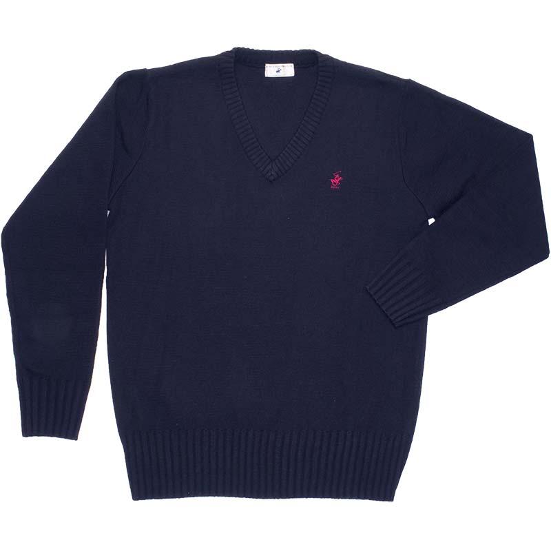 BEVERLY HILLS POLO CLUB ウール混セーター KP911-1 おぼろ月夜(紺)