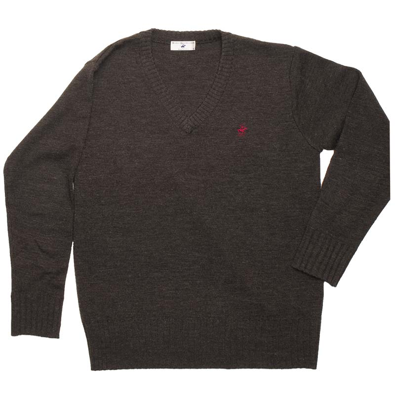 BEVERLY HILLS POLO CLUB ウール混セーター KP911-2 曇りなき薄暮のそら(チャコールグレー)