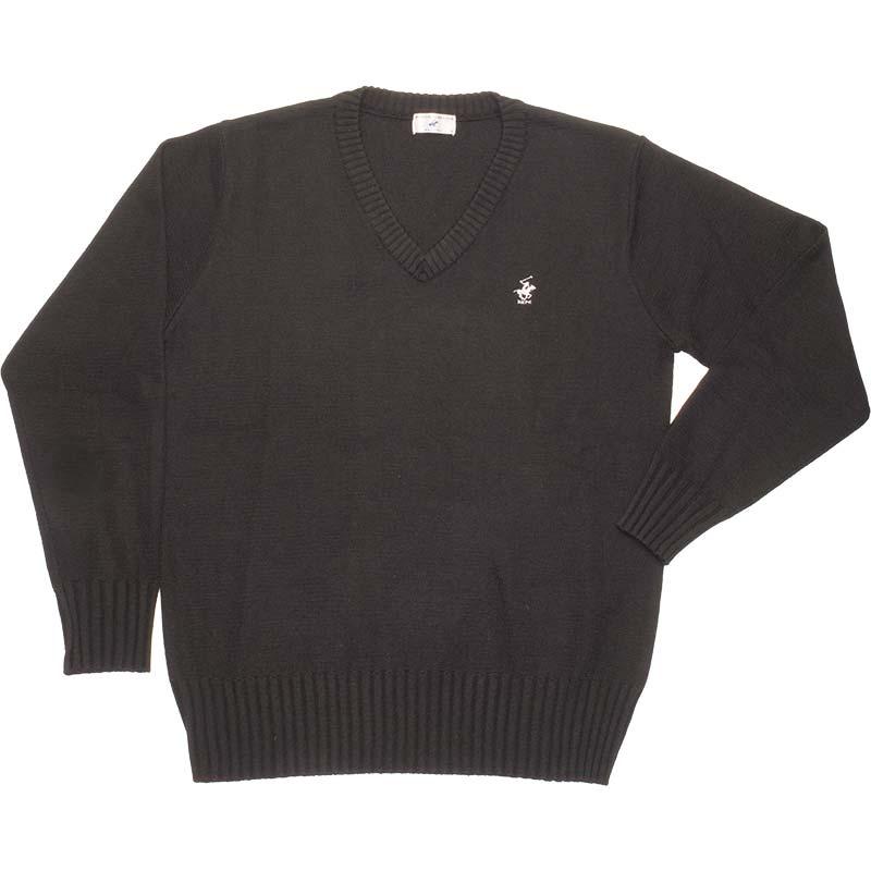 BEVERLY HILLS POLO CLUB ウール混セーター KP911-4 宵闇の乙女(黒)