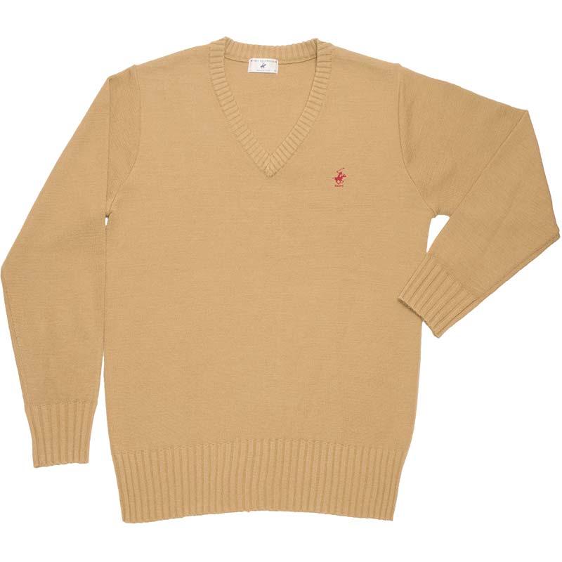 BEVERLY HILLS POLO CLUB ウール混セーター KP911-8 柔らかな朝雲(ライトキャメル)