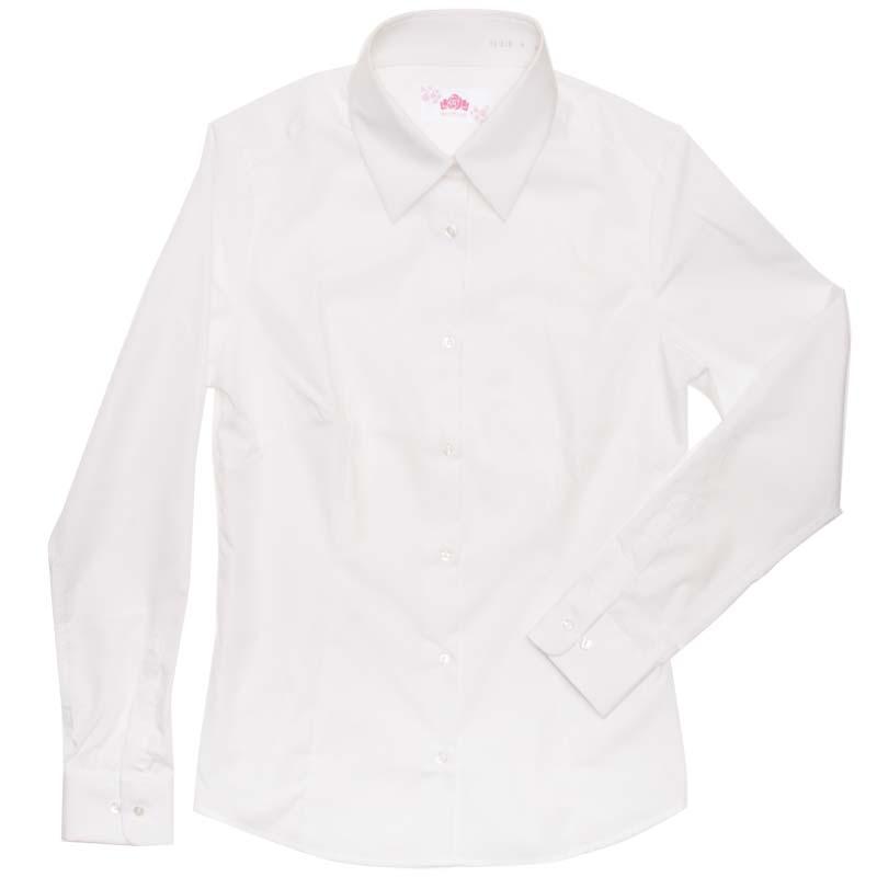 BE STELLA 角襟スリムシャツ(長袖)ポケットなし BS300