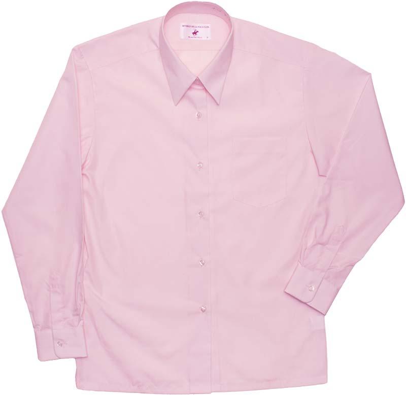 BHPC レギュラーシャツ長袖(きゅーてぃーピンク)ポケットあり CP294