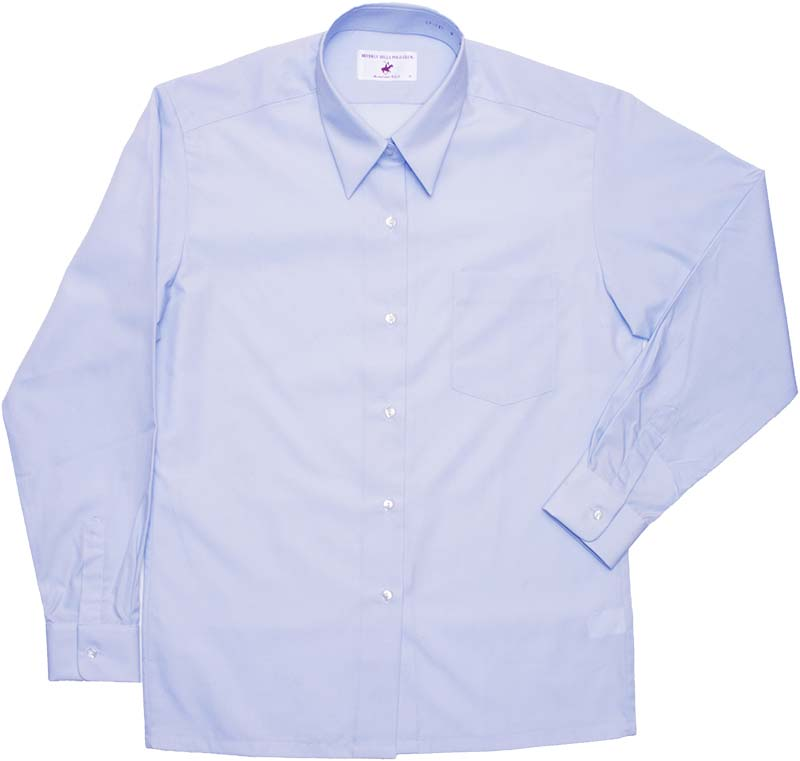 BHPC レギュラーシャツ長袖(さわやかブルー)ポケットあり CP292