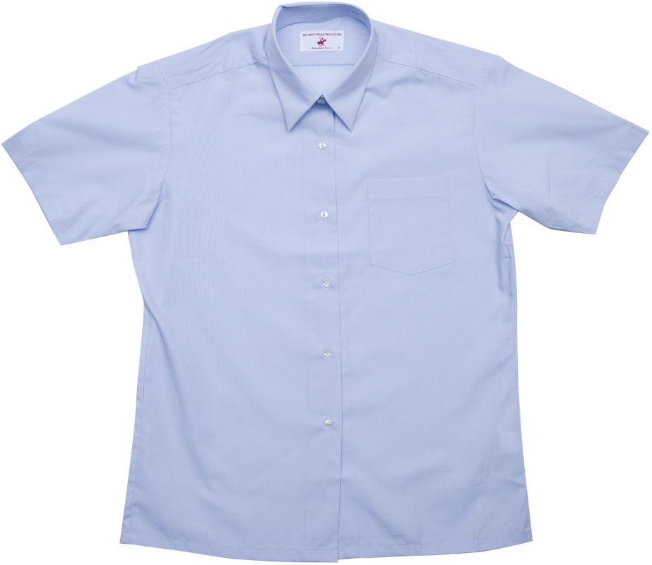 BHPC レギュラーシャツ半袖(さわやかブルー)ポケットあり CP291