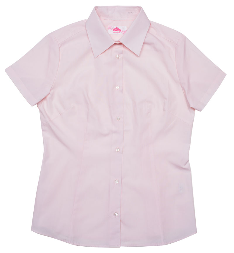 BE STELLA スリムシャツ半袖(きゅーてぃーピンク)ポケットなし BS352