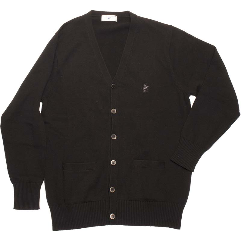 BEVERLY HILLS POLO CLUB KP964-4 綿カーディガン ぶらっくべりー(黒)