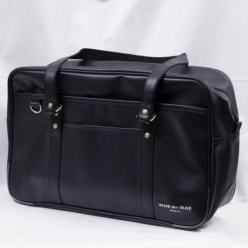 OLIVE des OLIVE 2K30021-09合皮サブバッグ (黒)