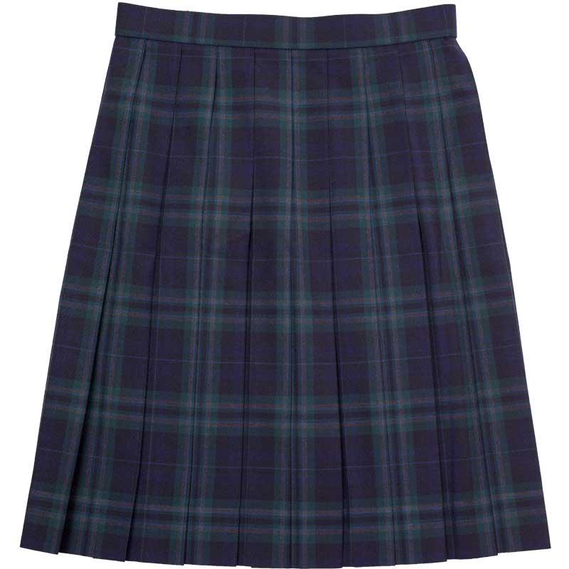 WKR424 部活帰りの寄り道 ~濃紺×緑大柄チェックスリーシーズンスカート