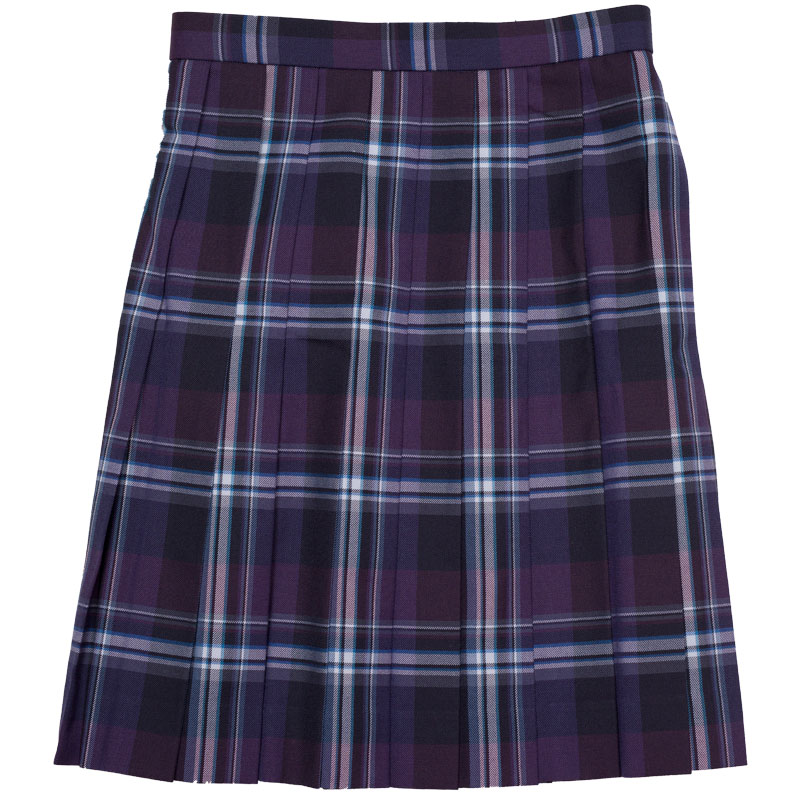 WKR428 秘めた恋の物語 ~紫紺大柄チェックスリーシーズンスカート