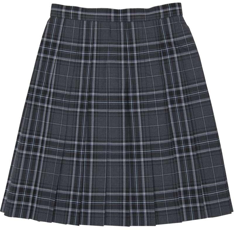 WKR89 恋グレー ~グレーチェック水色スリーシーズンスカート