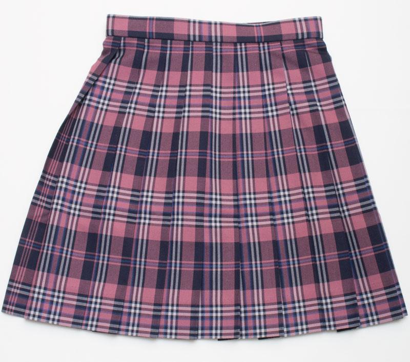 KR307 中庭でランチ ~ピンク・紺・白スリーシーズンスカート