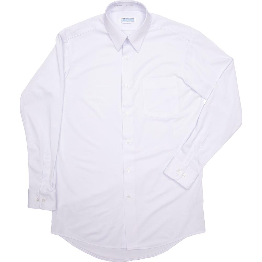 2130005-01 角襟シーブロックニットシャツ(男子長袖)(JAA)