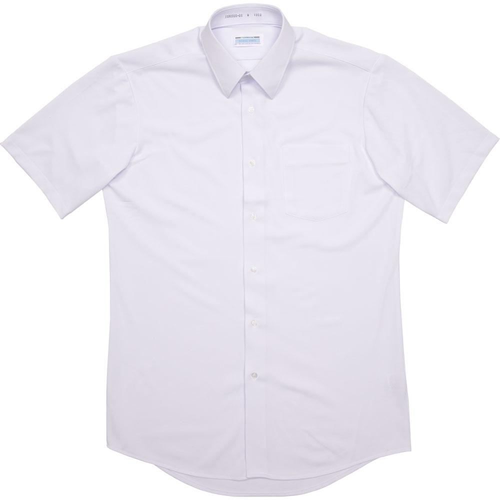 2180005-01 角襟シーブロックニットシャツ(男子半袖)(JAA)