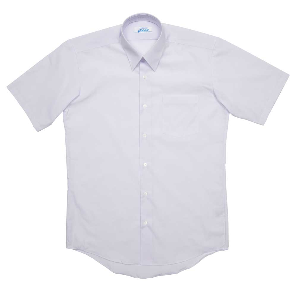 5E835-01 形態安定角襟レギュラーシャツ(男子半袖)(JAA)