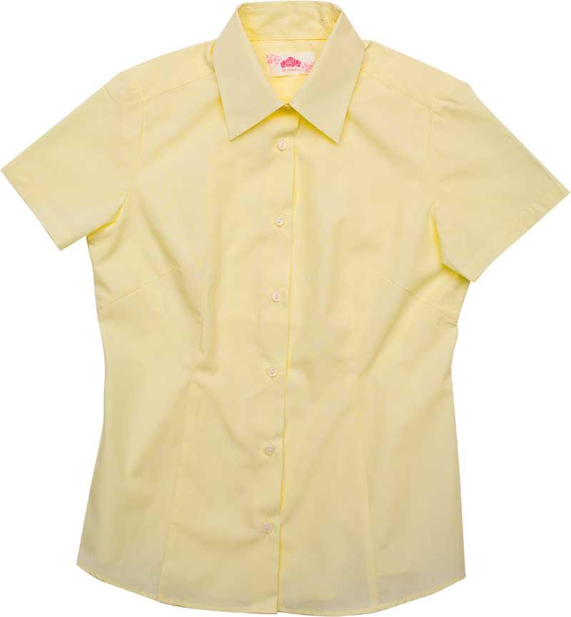BE STELLA スリムシャツ半袖ポケットなしイエロー BS353(JAA)