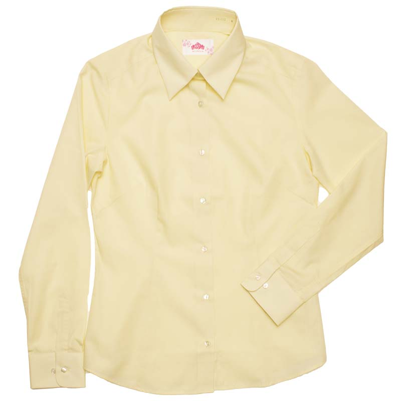 BE STELLA スリムシャツ長袖ポケットなしイエロー BS303(JAA)