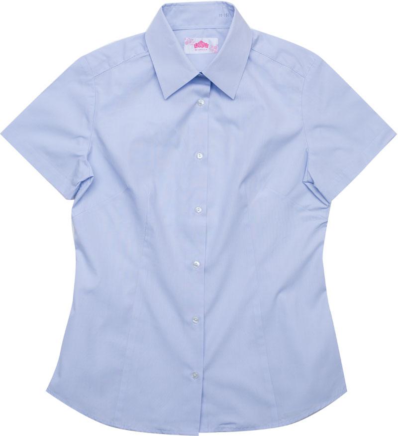 BE STELLA スリムシャツ半袖ポケットなしブルー BS351(JAA)