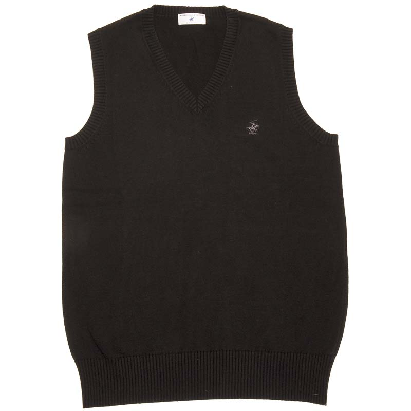 BEVERLY HILLS POLO CLUB KP960-4 前閉じベスト(黒)(JAA)