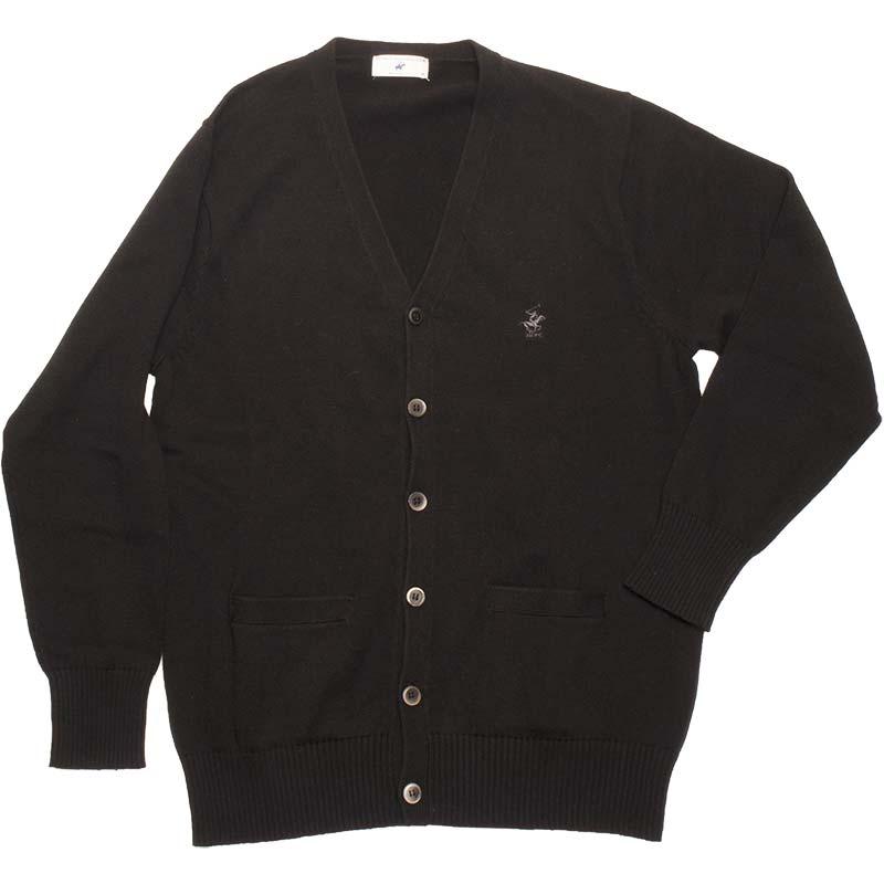 BEVERLY HILLS POLO CLUB KP964-4 綿カーディガン(黒)(JAA)